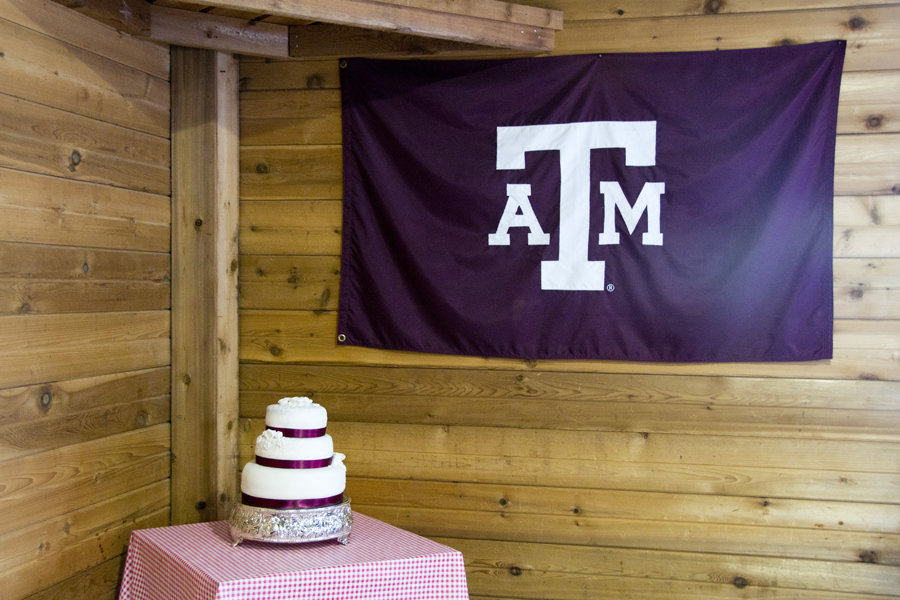 the cake i made for their Aggie themed reception