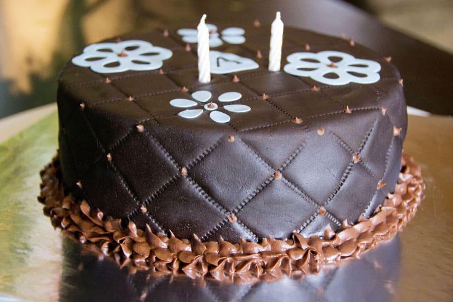 Birthday Cake With Name Tag ~ Chocolate brown blue birthday cake u name it creative services
