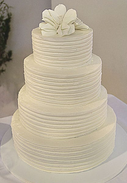 Horizontal Striped Wedding Cake U Name It Creative Services