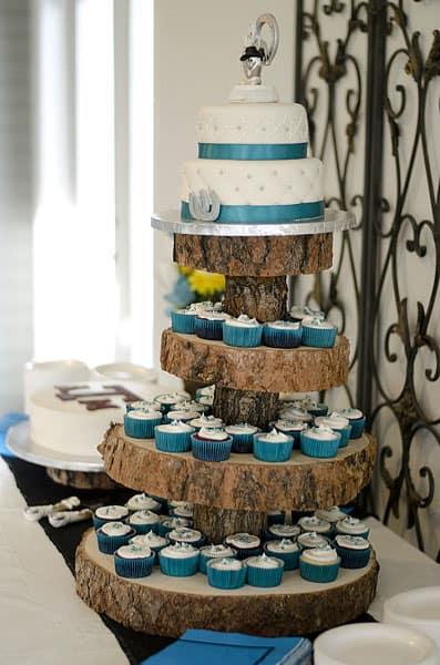 Teal Rustic Cupcake Tower U Name It Creative Services