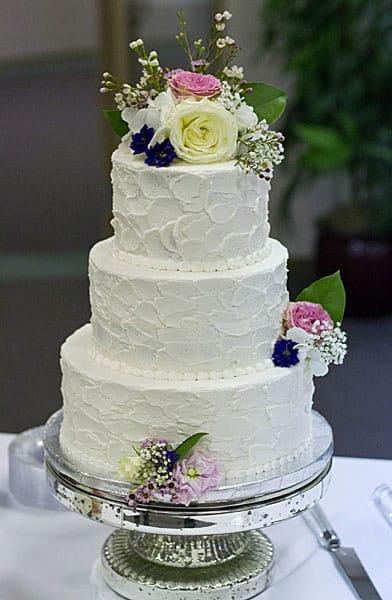 Stucco Buttercream Cake With Wildflowers U Name It