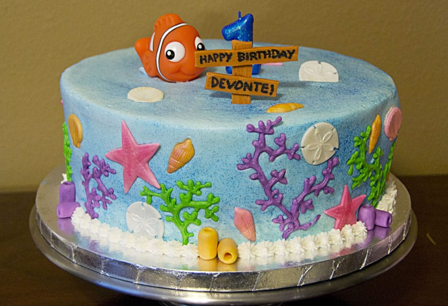 Nemo Themed Birthday Cake