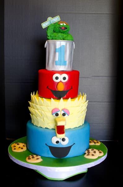 sesame street cake10807