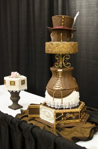 notice my mom's hand painted cake next to mine. she won 2nd in her division!
